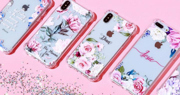 Dearcase 花卉訂製文字、姓名款 iPhone 客製化手機殼