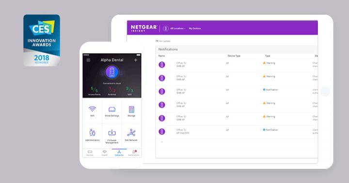 NETGEAR Insight網路管理App 榮獲2018【 CES國際消費電子展設計創新獎】